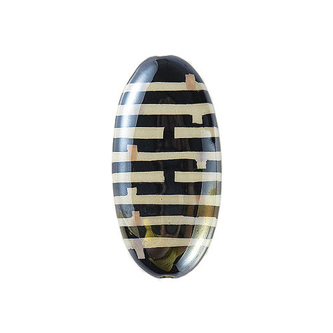 3C Studio Modern Art Bead - Black and White Lines