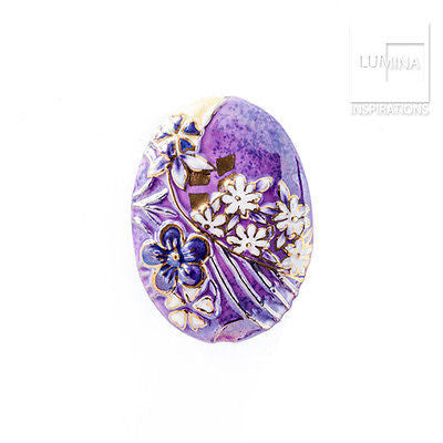 3C Studio Purple Asian Flower Bead