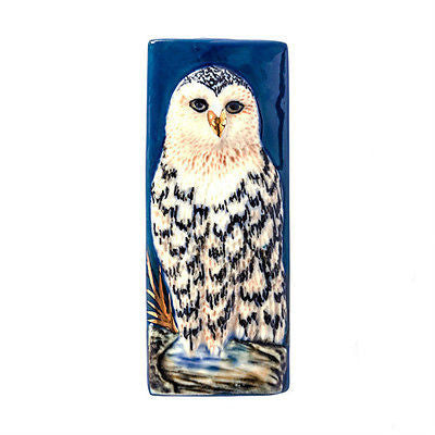 3C Studio Blue and White Owl Bead - Large