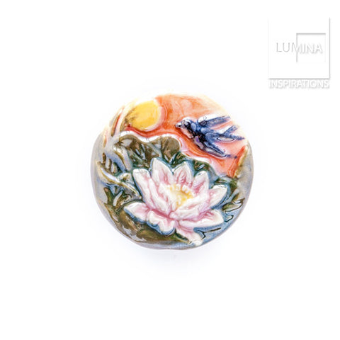 3C Studio Bird and Water Lily Bead