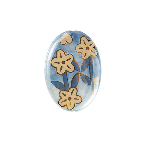 3C Studio Blue Asian Flower Bead