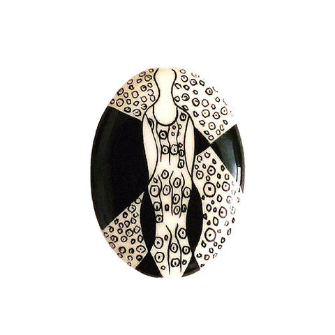 3C Studio Art Nouveau Black and White Bead No.4