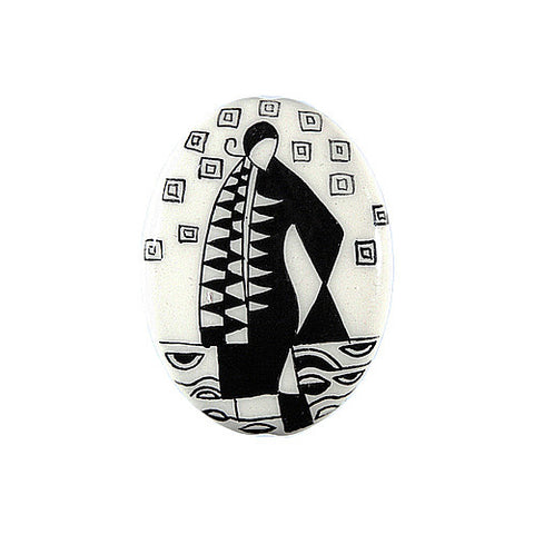 3C Studio Art Nouveau Black and White Bead No. 5