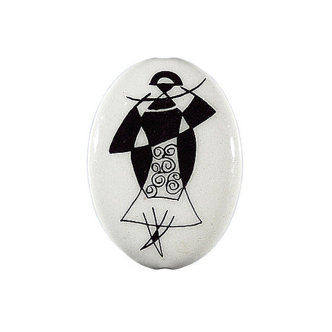3C Studio Art Nouveau Black and White Bead No. 9