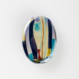 3C Studio Modern Art Bead - Blue Abstract