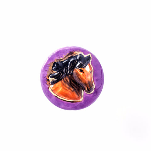 3C Studio Purple Horse Bead