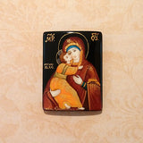 Russian Artist Hand-Painted Mother and Child Miniature Bead