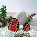 3C Studio Oval Poppy Flower Bead