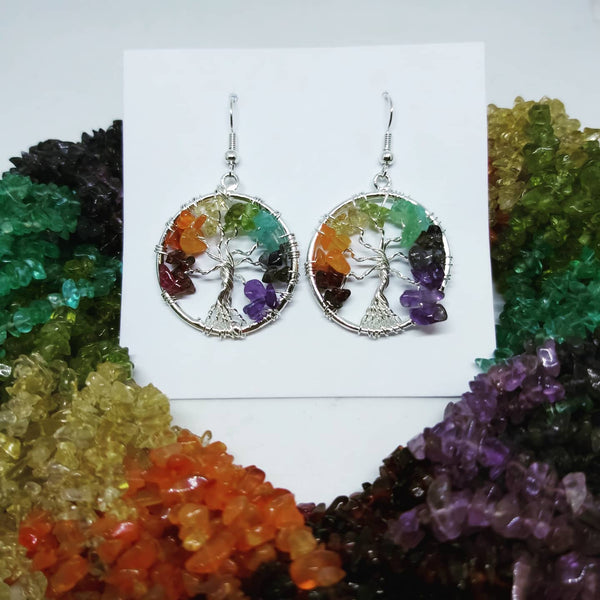 Chakra Tree Earrings