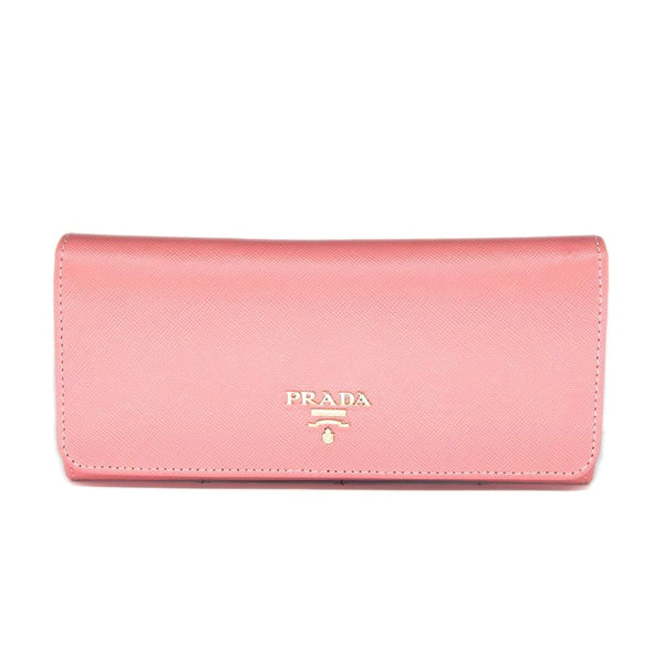 Prada Continental Saffiano Leather Wallet 1M1132 - Pink