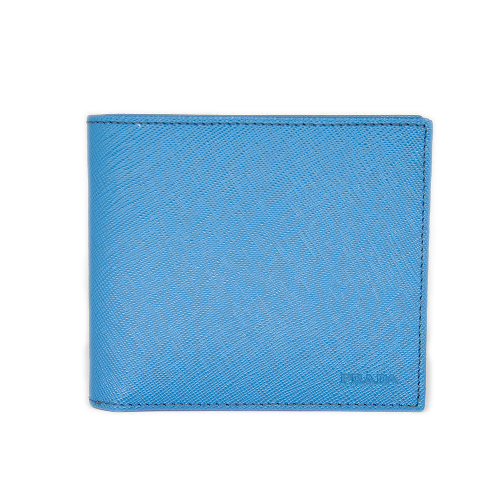 PRADA-SAFFIANO-LEATHER-WALLET 2M0738 Blue (COBALTO)