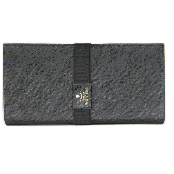 Prada Long Saffiano Leather Wallet 1M1302 - Black