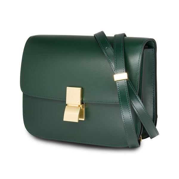 Céline Medium Classic Box Calf Leather Olive