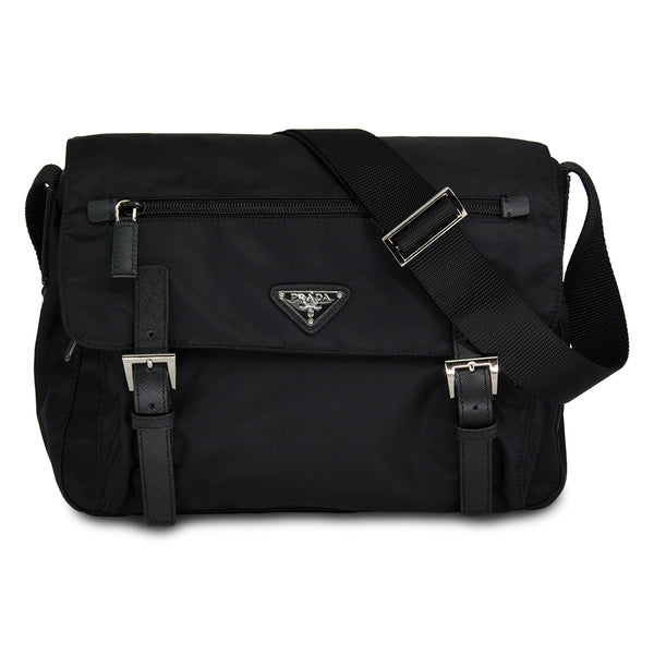 Prada Messenger Bag Vela Nylon BT6671 Black
