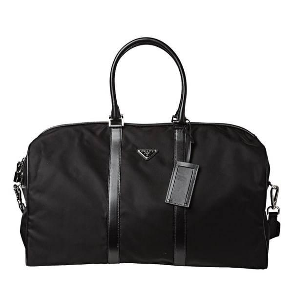 Prada Large Vela Nylon Duffle Bag V20s Black