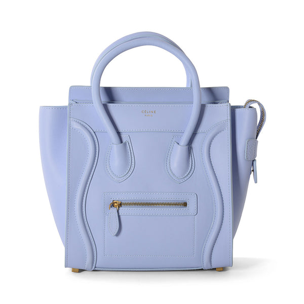 Celine Light Purple Calfskin Micro Luggage Tote Bag