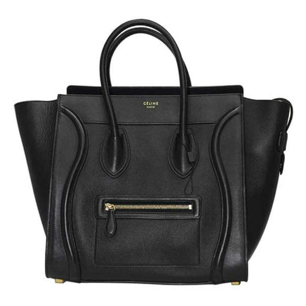 MEDIUM Céline Luggage In Smooth Leather Black Tote Bag