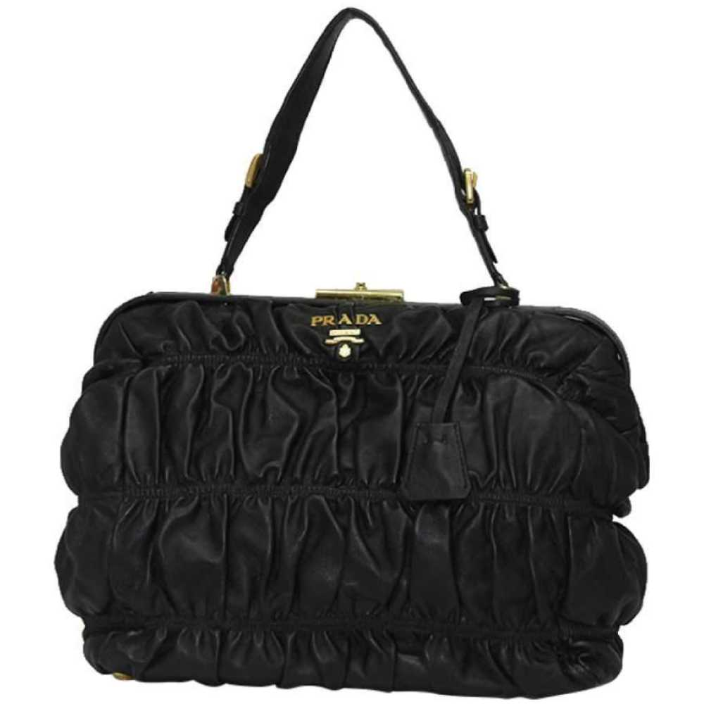 Prada Gaufre Leather Tote Handbag Black (Nero)