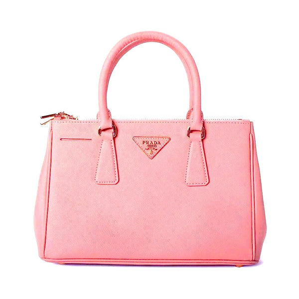 Prada Saffiano Lux Small Tote Leather BN1801 Pink