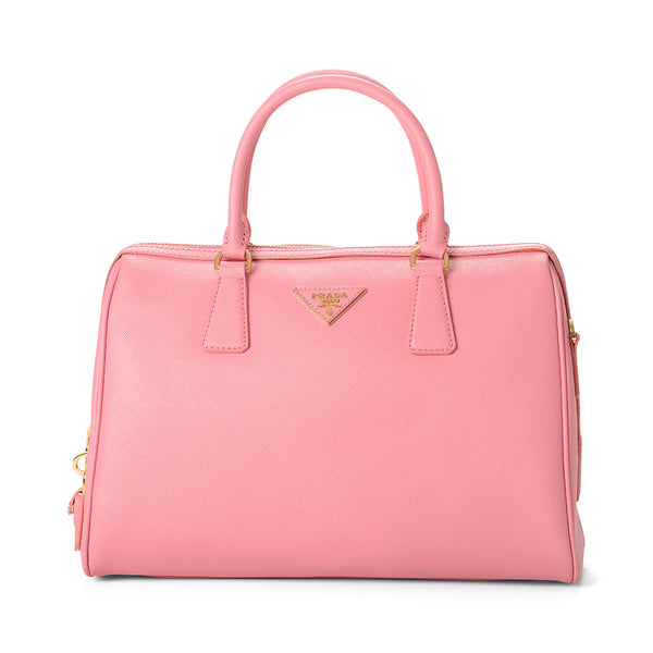Prada Large Saffiano Leather Top Handle Handbag BL0812 Pink (Begonia)
