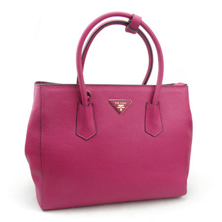 Prada Large Vitello Diano Leather Tote Handbag BN2829 Dark Fushia (PEONIA)