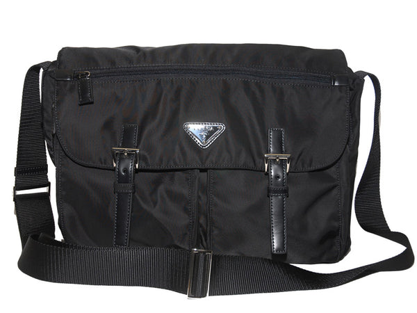 Prada Vela Nylon Messenger Bag BT1738 Black (Nero)