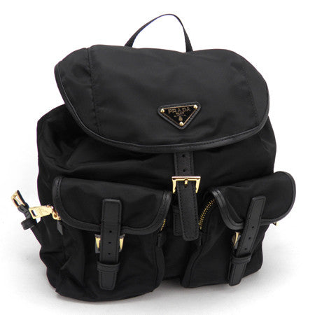 Prada Vela Fabric Backpack BZ0030 Black (Nero)