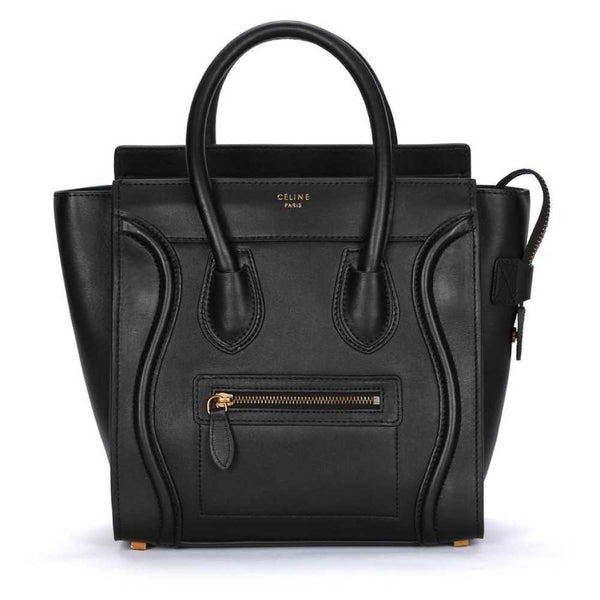 Céline Micro Luggage Smooth Calf Leather Black Tote Bag