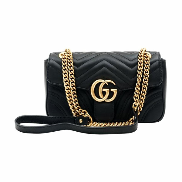 Gucci GG Marmont Quilted Crossbody Bag Small Black