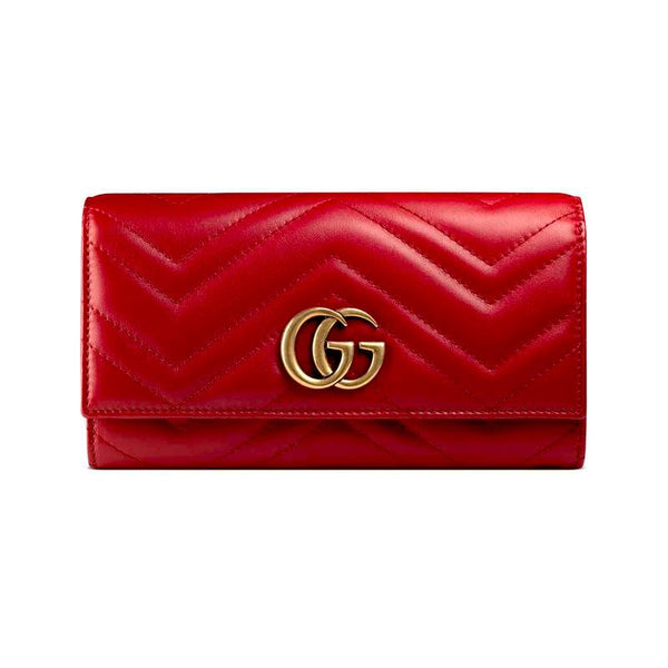 Gucci GG Marmont Continental Wallet RED