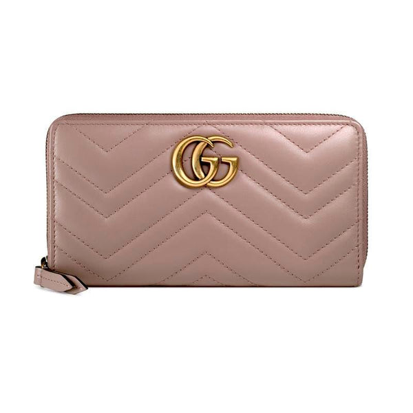 Gucci GG Marmont zip around wallet Brown