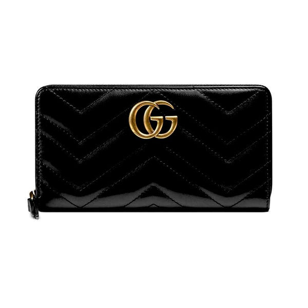 Gucci GG Marmont zip around wallet BLK