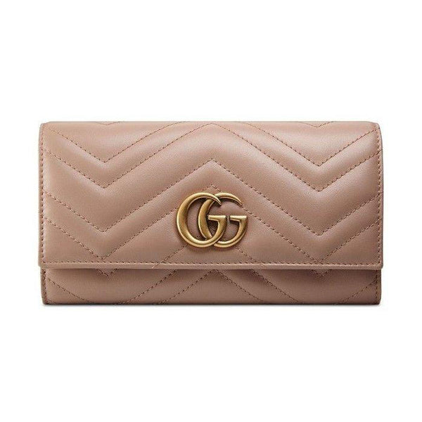 Gucci GG Marmont Continental Wallet Brown