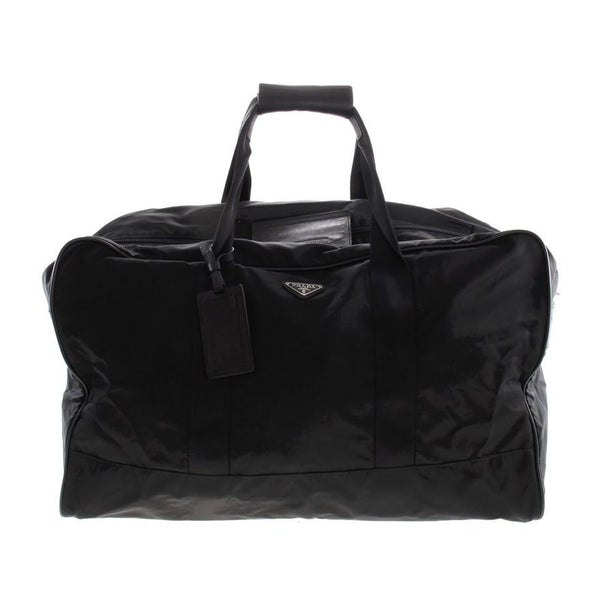 Prada Large Vela Nylon Duffle Bag VS001s Black