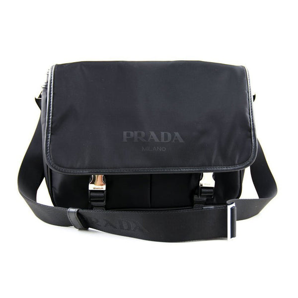 Prada Vela Nylon Messenger Shoulder Bag VA0768 Black (Nero)
