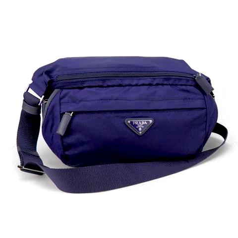 Prada Tessuto Nylon Kangaroo Travel Bag VA0994 Blue (Baltico)