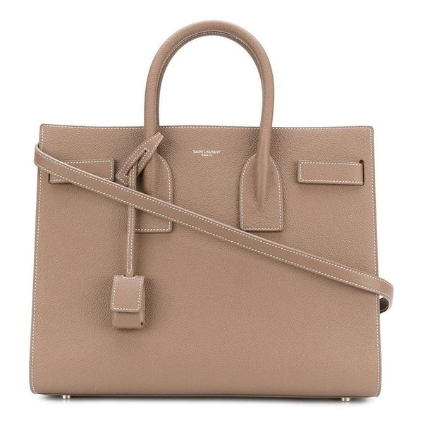 Saint Laurent Small Sac De Jour Bag in Tan Leather