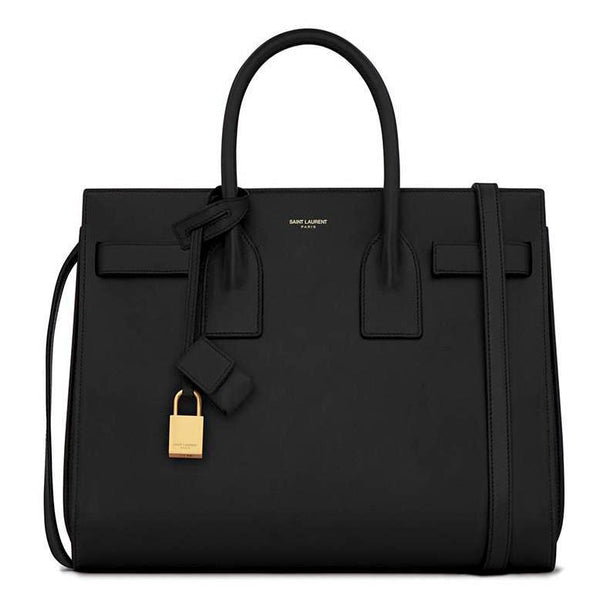 Saint Laurent Small Sac De Jour Bag in Black Leather
