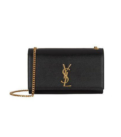 Saint Laurent Mediun Kate Shoulder Bag Black with Gold