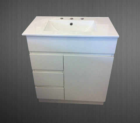 750mm SLIMLINE VANITY UNIT