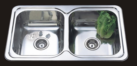 820mm Grande Double Inset Sink