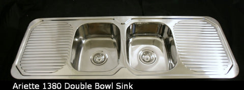 1380mm Ariette Double Bowl Sink