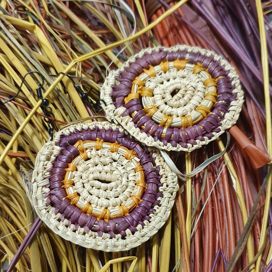 Elcho Clothing Weaving - Yolngu Earrings BD