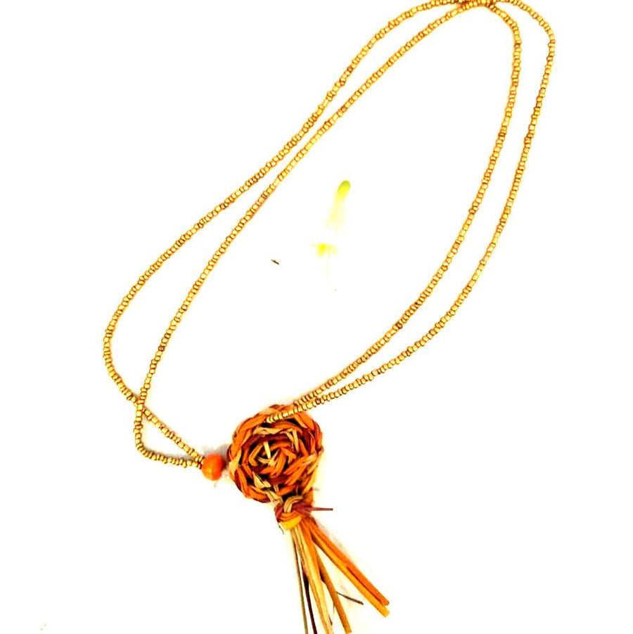 Elcho Clothing Weaving - Orange Necklace