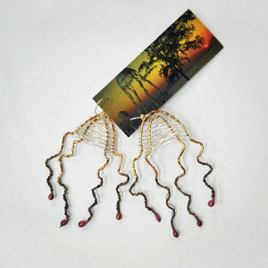 Aly de Groot Jellyfish Earrings - Red tips