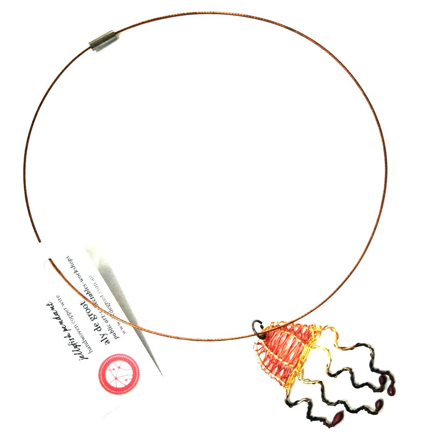 Aly de Groot Jellyfish Necklace - Orange