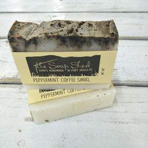 The Soap Shed - Peppermint Coffee Swirl Soap Bar