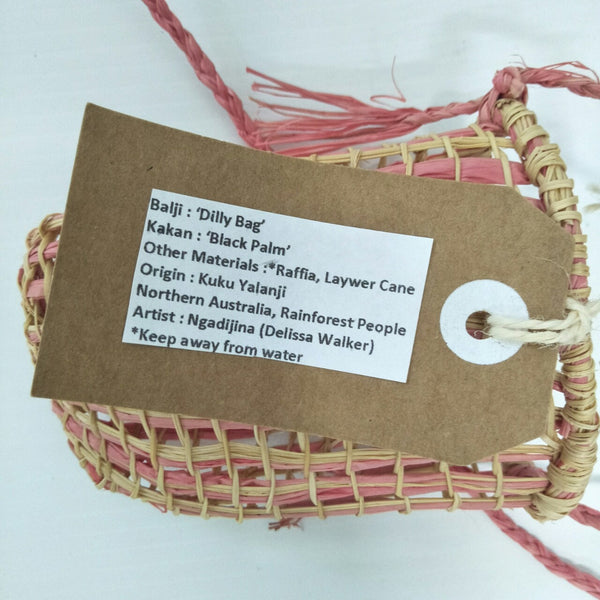 Weaving: Dilly Bag Pink