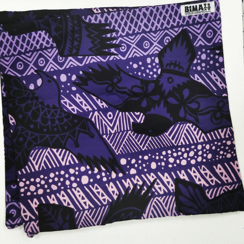 Bima Wear Cushion Cover: Purple Eagle