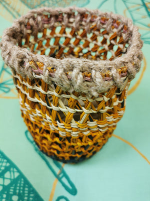 Woven Open Basket: by Lilly Roy